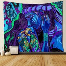 Black Lover African American Couple Art Tapestries Living Room Bedroom Dorm