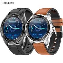 Senbono 2020新IP68防水スマートウォッチ心拍数血圧モニター天気スマートウォッチファッションフィットネストラッカー時計