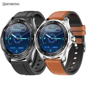 Image 1 - Senbono 2020新IP68防水スマートウォッチ心拍数血圧モニター天気スマートウォッチファッションフィットネストラッカー時計