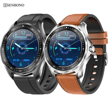 Senbono 2020 novo ip68 à prova dip68 água relógio inteligente freqüência cardíaca monitor de pressão arterial tempo smartwatch moda fitness rastreador relógio