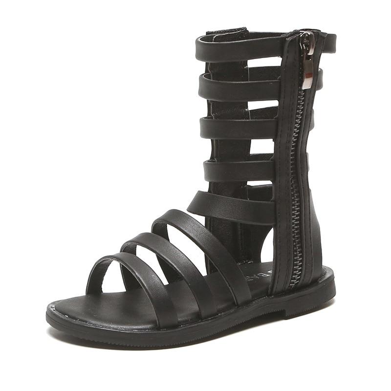 Fashion High-top Children's Princess Beach Shoes Open-toe Soft Chic Gladiator Girls Kids Sandals Roman Sandals Toddlers Big Girl