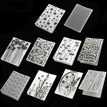 DIY Plastic Template Craft Card Making Paper Cards 1Pcs Photo Album Fondant Cake Decoration Scrapbooking Embossing Folder(China)