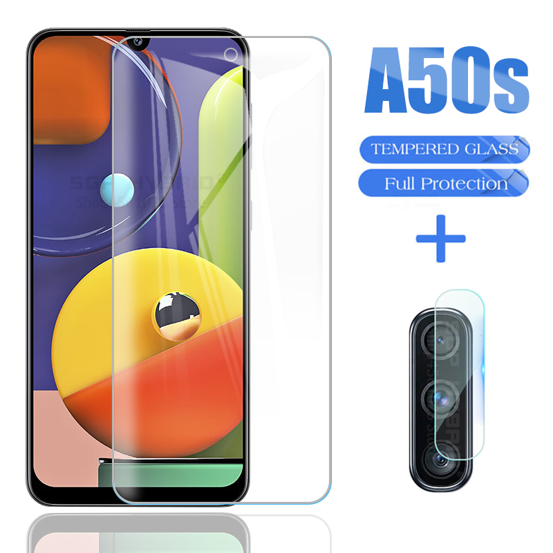 2in1 For Samsung Galaxy A50S A50 Screen Protector Glass For Samsung Sansung A50S A50 S A507F Camera Lens Armored Film Glass Sklo