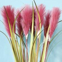 Simulation plant fake grass single reed dog tail wedding home floor green simulation decorative flower