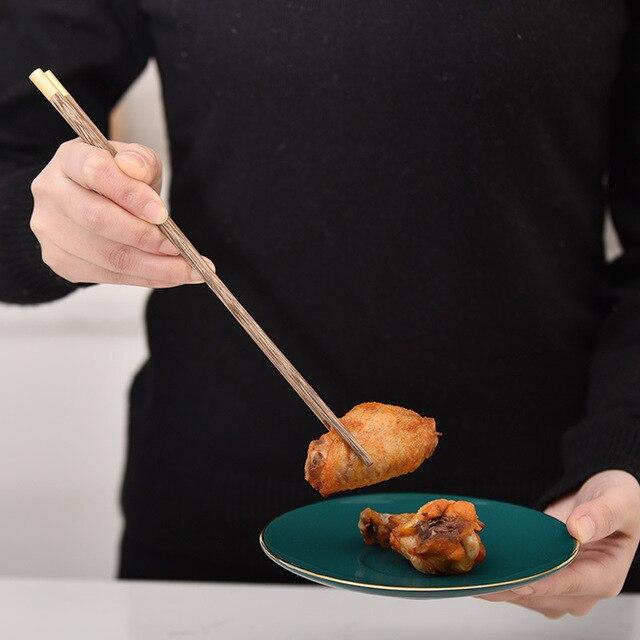 Фото 5 пар японских креативных деревянных палочек ручной работы палочки цена