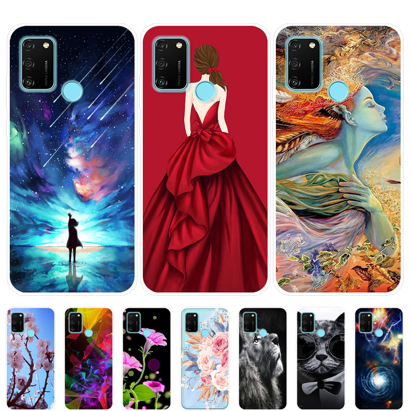 Honor 9A Case Silicone Soft Back Cover Phone Case For Huawei Honor 9A 9 A Honor9A MOA-LX9N Case 6.3 Inch