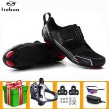 Buty rowerowe Tiebao Triathlo mężczyźni trampki samoblokujące sapatilha ciclismo rowerowe buty jeździeckie oddychające obuwie rowerowe