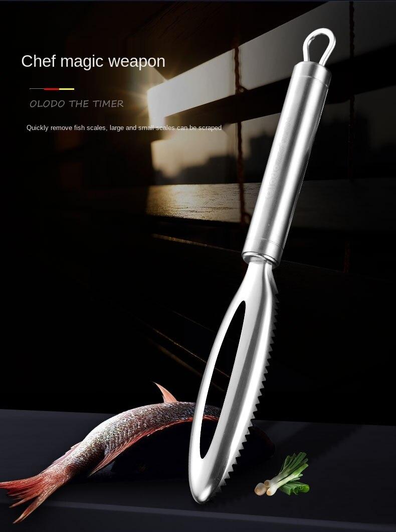 Maravilhoso gadget para raspagem escalas de peixe