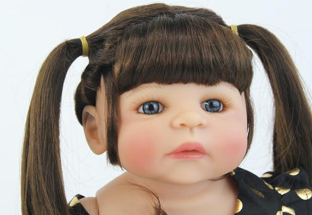 55 centimetri Pieno di Silicone Reborn Baby Doll Giocattolo Come Vera E Propria Del Vinile Neonato Vivo Bebe Bambini Della Bambola Della Ragazza Brinquedos Casa Un Gioco da ragazzi fare il bagno Giocattolo