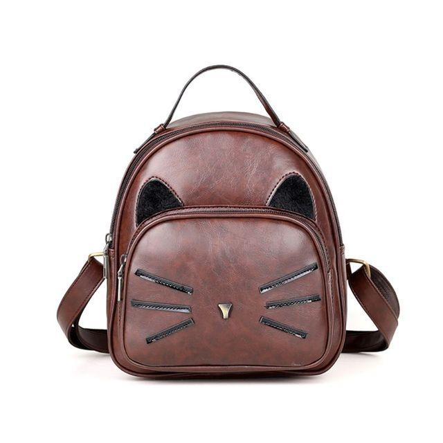 Haute qualité mignon chat adolescent filles Mini école sac à dos sac à main sac à dos de promenade décontracté petit sac pour les femmes