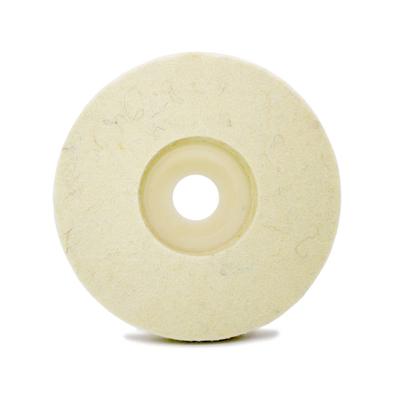 10cm 4 Inch White Wool Felt Polishing Wheel Buffing Disc Pads For Angle Grinder