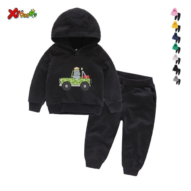 Sports Tracksuit Outfits Baby Toddler Kids Boy Girl Baby Hoodie Long Pants Set