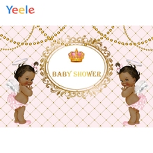 Little Princess Baby Shower Photophone Golden Crown Girl Bithday Party Customized Photo Backdrop Photo Background Photo Studio