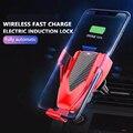 10 Вт Qi Беспроводное зарядное устройство для автомобиля Быстрая зарядка для samsung S10 S9 S8 Plus Note 9 8 для iPhone 11 10 X XS Max XR автомобильный держатель теле...