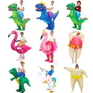Image 1 - حار أنيمي ديناصور نفخ زي حفلة التميمة الغريبة ازياء دعوى disfraz تأثيري هالوين ازياء للكبار الاطفال اللباس