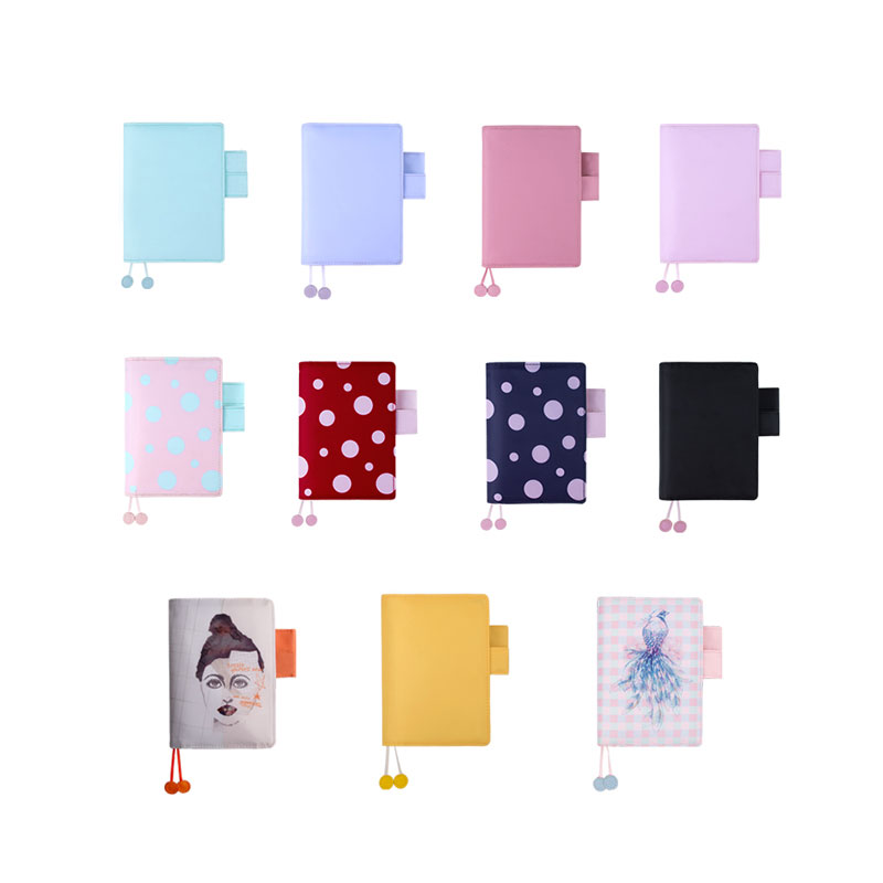 Yiwi A6 Bullet Grid Filler Planner Agenda Color Colth Notebook PVC Daily Journal Travel Journal Note Stationery