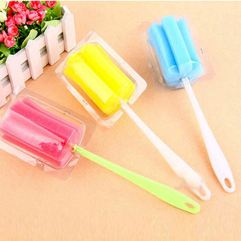 T Fun Kitchen Simple and Durable Cup Brush Long Handle Sponge Cleaning Bottle Cleaning Baby Bottle Brush image