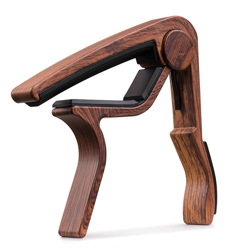 Wood Grain Metal Guitar Capo With Perfect Silicon Cushion For Guitar Ukulele Tuning Musical Instrument Accessories Guitar Clip