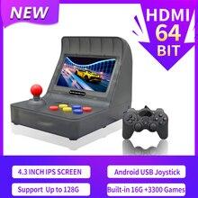 Novo retro arcade hdmi jogos de vídeo console portátil hd tv retro jogo mini handheld manche de família embutido 3000 jogos dom gratuito
