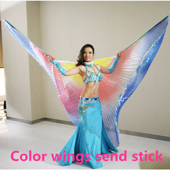 wings Belly dance wings with sticks children adult belly dance costume colorful wings women belly dance oriental wings