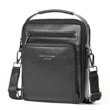 купить New 2019 Brand Men's Genuine Leather Business Bag Men High Quality Handbags Large Travel Briefcases Male Cowhide Messenger Bags дешево