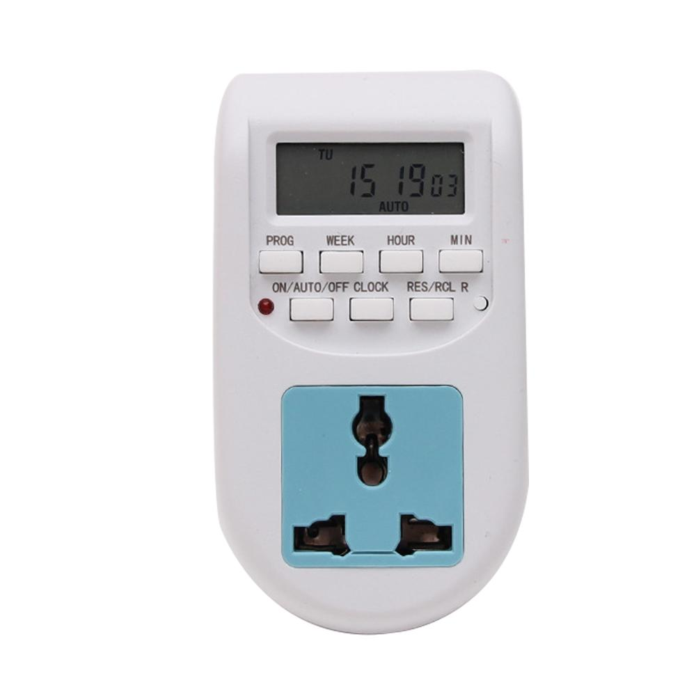 Electronic Digital Timer Switch EU Plug Kitchen Timer Outlet 125V/230V 50HZ 7 Day 12/24 Hour For LED Grow Light Grow Tent