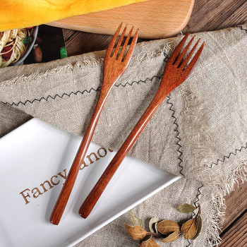 Drewniana łyżka wysokiej jakości naturalne widelec bambusa kuchnia gotowanie posiłki herbatę miód kawy naczynia narzędzia zupy-łyżeczka zastawa stołowa #60 tanie i dobre opinie CN (pochodzenie) Drewna home decor home decoration accessories