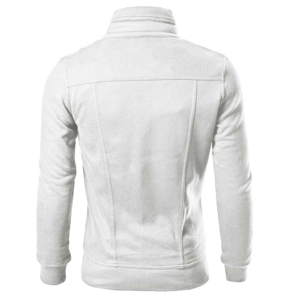 Meihuida 秋男性カジュアル固体ジップアップウォームポケット綿 Breathablity パーカーパーカースウェットジャケットコートトップトップス