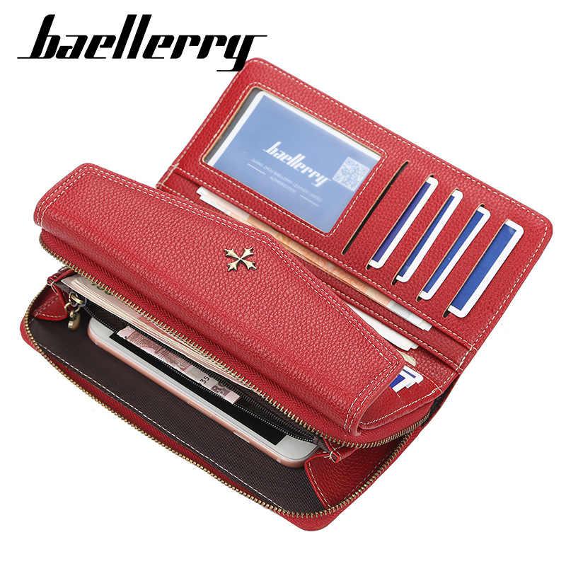 2020 kobiet portfele nazwa grawerowanie moda długa jakość posiadacz karty klasyczna torebka damska Zipper marka portfel dla kobiet