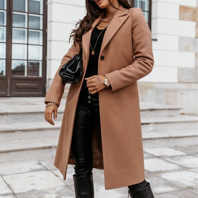 Down Collar Trench Coat 2