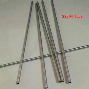 3 мм/4 мм/5 мм/6 мм/7 мм/8 мм, жесткое состояние SS304 маленькая промышленная трубка из нержавеющей стали, длина около 320 мм/шт, 6 шт./лот