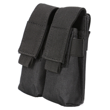 Molle System Tactical Pistol Double Magazine Pouch Clip Tool Military Airsoft Mag Holder Bag Hunting Accessories