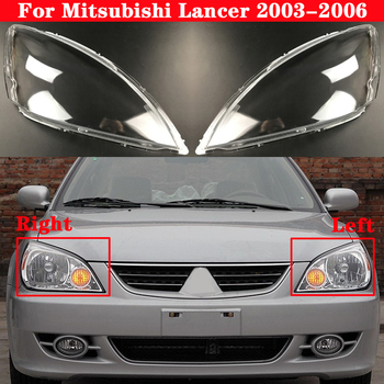 цена на Car Front Headlight Cover For Mitsubishi Lancer 2003-2006 Headlamp Lampshade Lampcover Head Lamp light glass Lens Shell Covers