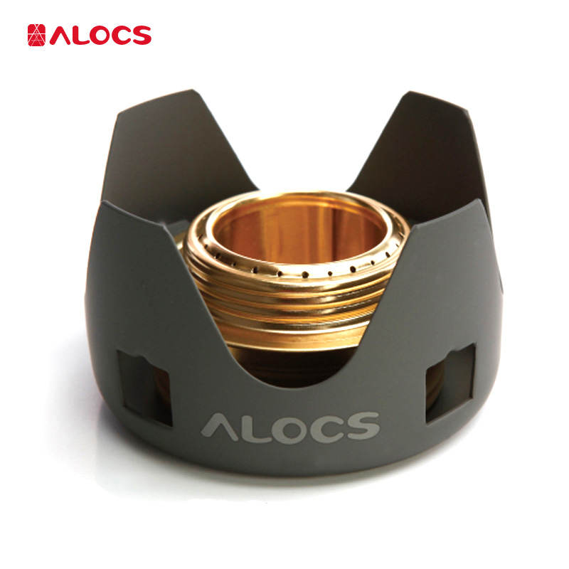 Alocs CS-B02 сверхлегкие нержавеющие новые уличные спиртовые жидкие твердые плиты Estufa De алкоголь для кемпинга и пешего туризма