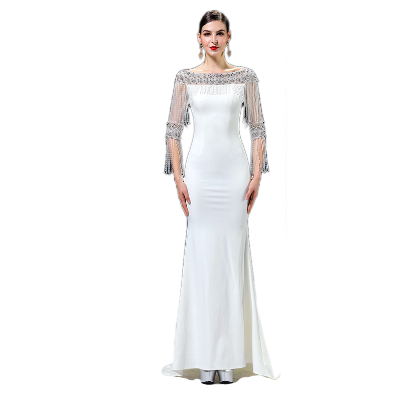 LPTUTTI Tassel Beading New For Women Elegant Date Ceremony Party Prom Gown Formal Gala Events Luxury Long Evening Dresses