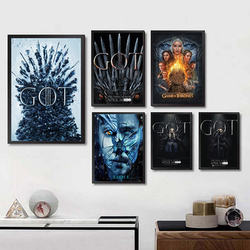 Hot Game of Thrones Hot Classic TV Series Season 8 Art Painting Coated paper Poster Wall Home Decor wall sticker ramin djawadi game of thrones music from the hbo series season 4 2 lp