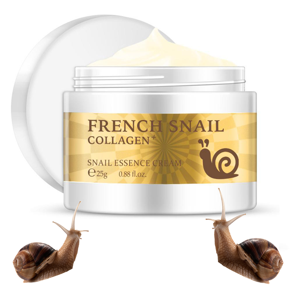 Snail Facial Cream Hyaluronic Acid Moisturizer Anti Wrinkle Anti Aging Nourishing Serum Collagen whitening Face Cream Skin Care image