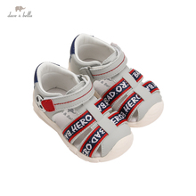 DB17640 Dave Bella summer fashion baby boys letter sandals new born infant shoes boy sandals casual shoes