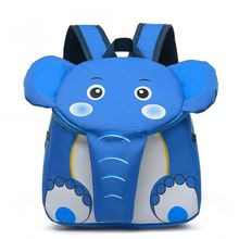 Funny Cute Creative Cartoon Elephant Shoulder Bag Kindergarten Schoolbag Backpack For Toddler Kids