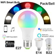 7W Smart WiFi Light Bulb E27/B22/E14/GU10 RGBW Dimmable Wireless WiFi Remote Control Bulb Lamp Light For Echo Alexa Google Home