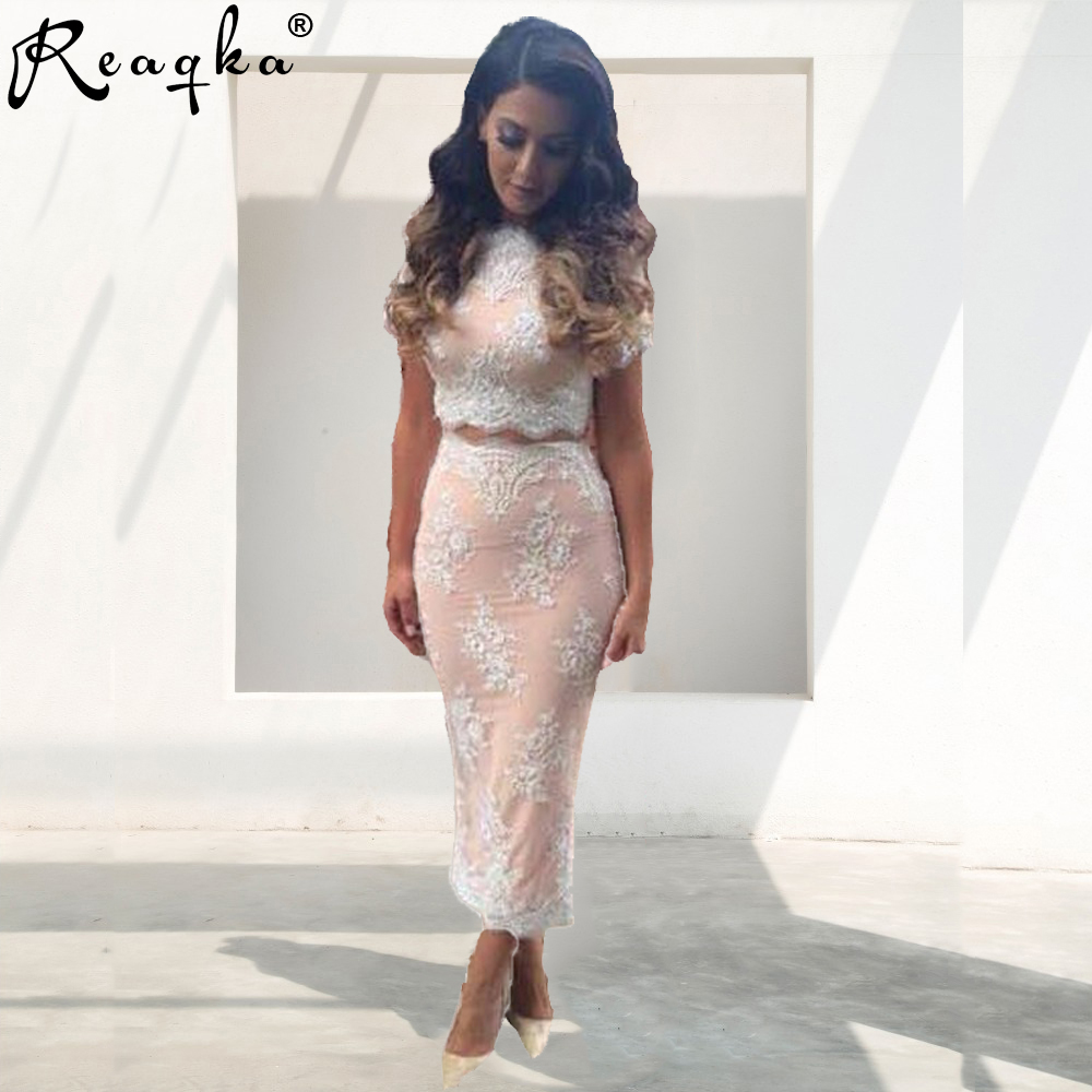 New 2019 Summer Women Lace Embroidery Bandage <font><b>Bodycon</b></font> <font><b>Dress</b></font> Cut Out Maxi Party Prom Two Piece Womens <font><b>Sexy</b></font> Party Sets <font><b>Dress</b></font> image