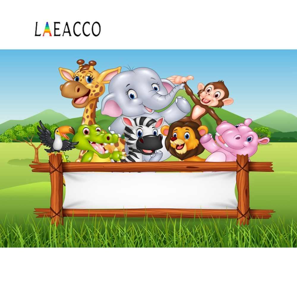 Jungle Safari doğum günü partisi hayvan bebek kişiselleştirilmiş çocuk posteri fotoğraf arka plan fotoğraf zemin Photocall fotoğraf stüdyosu