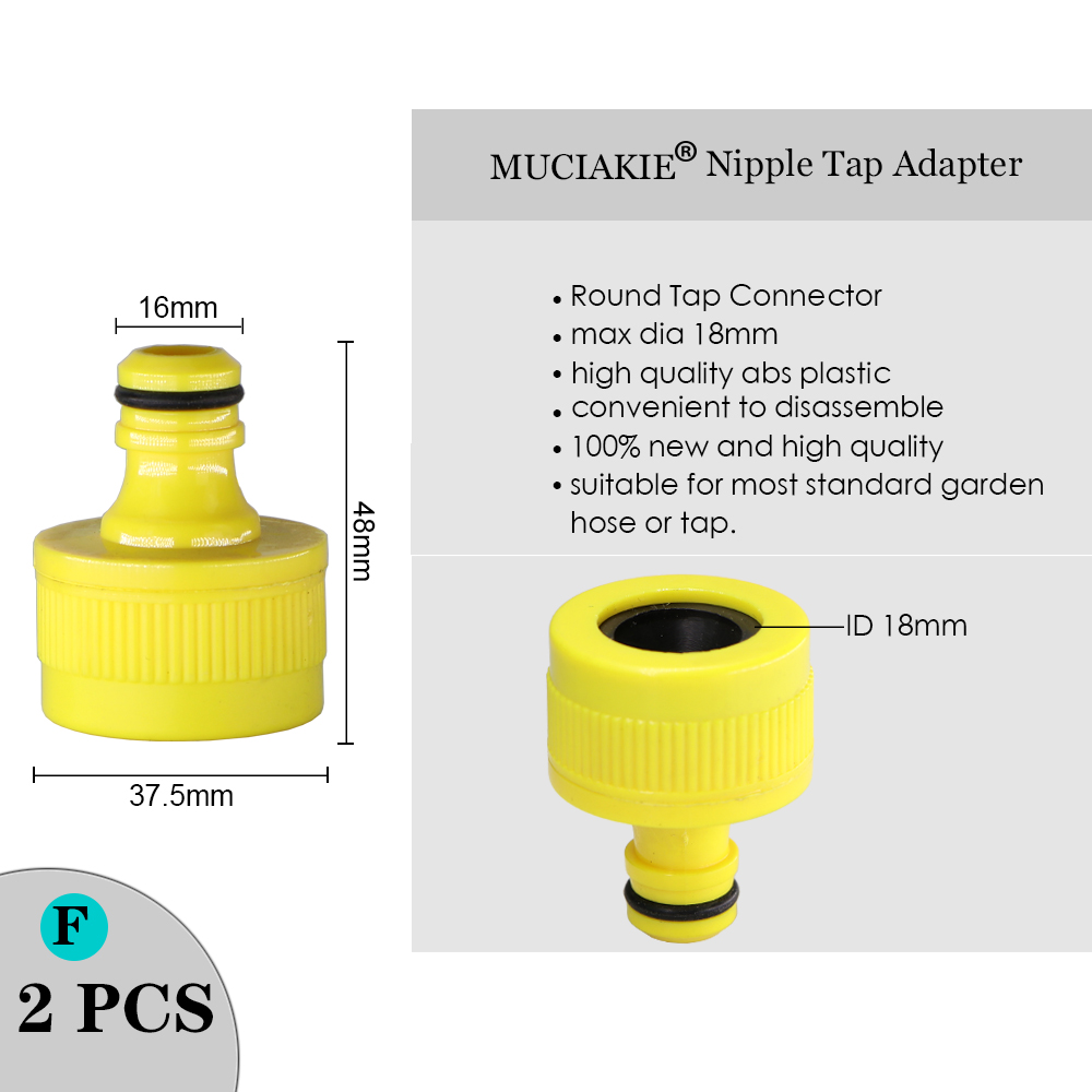 """H0ea45f85e6024a4fa3ba38ca1f7e07c7o MUCIAKIE Variety Style Garden Tap 1/2"""" 3/4"""" Male Female Thread Nipple Joint 1/4"""" Hose Quick Connector Irrigation Water Splitters"""