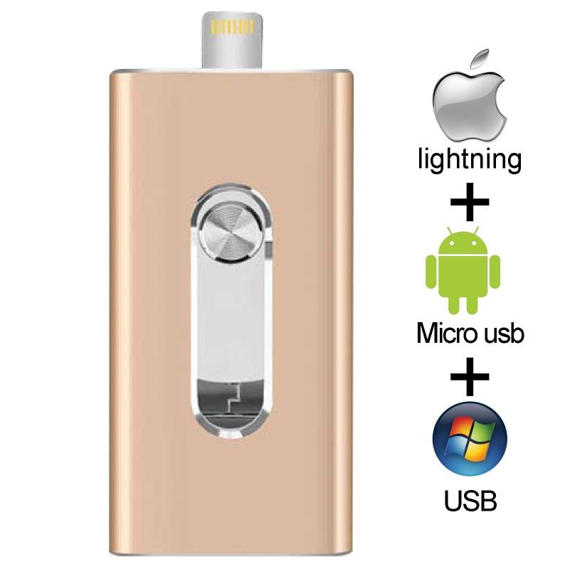OTG USB Flash Drive For Apple IPhone IPad IPod Mobile USB Flash Disk USB Stick Flash Pen Drive 128G 64GB 32GB 16GB Usb Flash 3.0