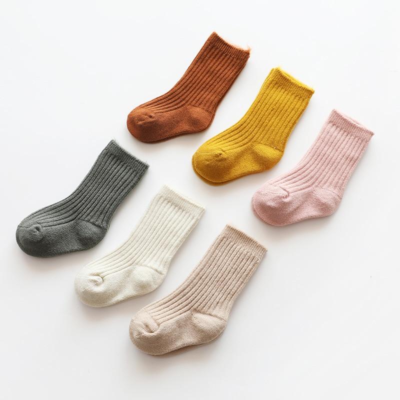 Thicken Baby Kids Socks Autumn Winter Cotton Striped Socks Warm Toddler Boy Girls Floor Socks Children Clothing Accessories 3
