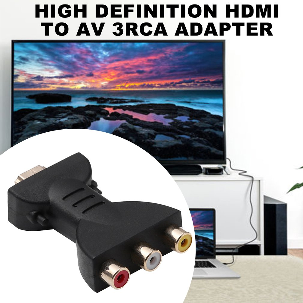 AV Digital Signal HDMI To 3 RCA Audio Adapter Component Converter Video For PC Projector Tablet Computers