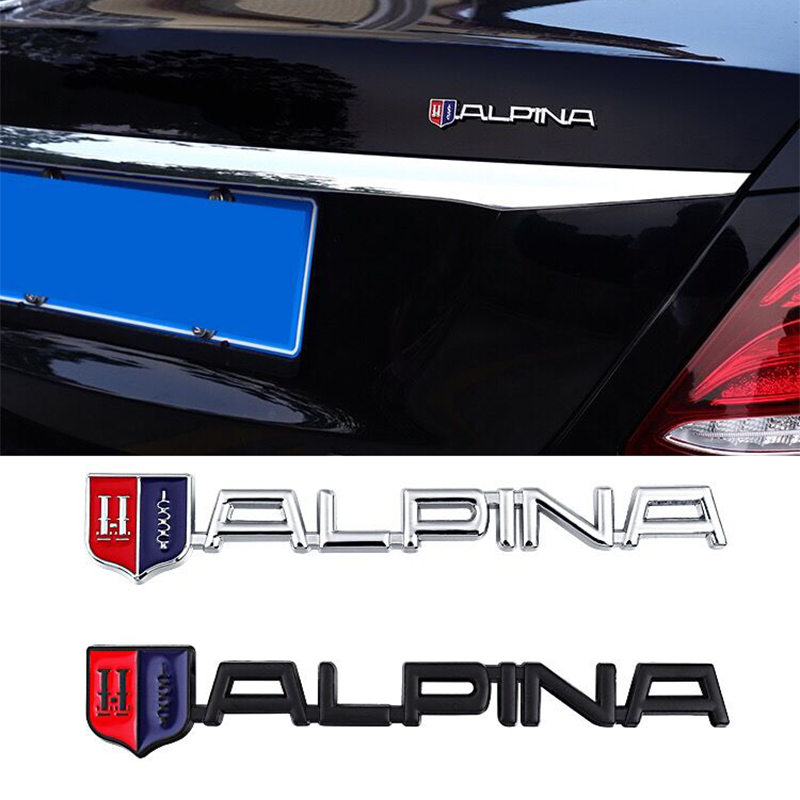3D Metal Etiqueta do carro Para BMW ALPINA E21 E38 F10 B7 E46 E60 E90 F15 F20 F30 G05 G06 Z3 Z4 Mala Do Carro Grade Do Emblema Do Emblema Adesivos