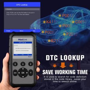 Image 4 - Autel ML629 Maxi enlace herramienta de diagnóstico de OBD2 escáner lector de código ABS Airbag lector de código de actualización Autel ML619 AL619