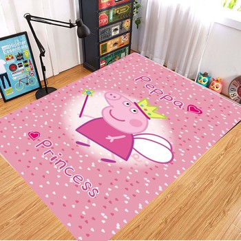 Peppa Pig Anti-slip Flannel Mat Peppa Door Mat Kid Room 3D Cartoon Floor Mat Washable Kitchen Bathroom Carpet Christmas Gift 16