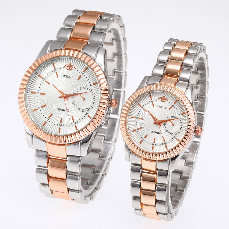 Femme Stainless Steel Lovers Wristwatch Montres Retro Dial Couple Watches Fashion Women Man Luxury Quartz Female Ladies Watch